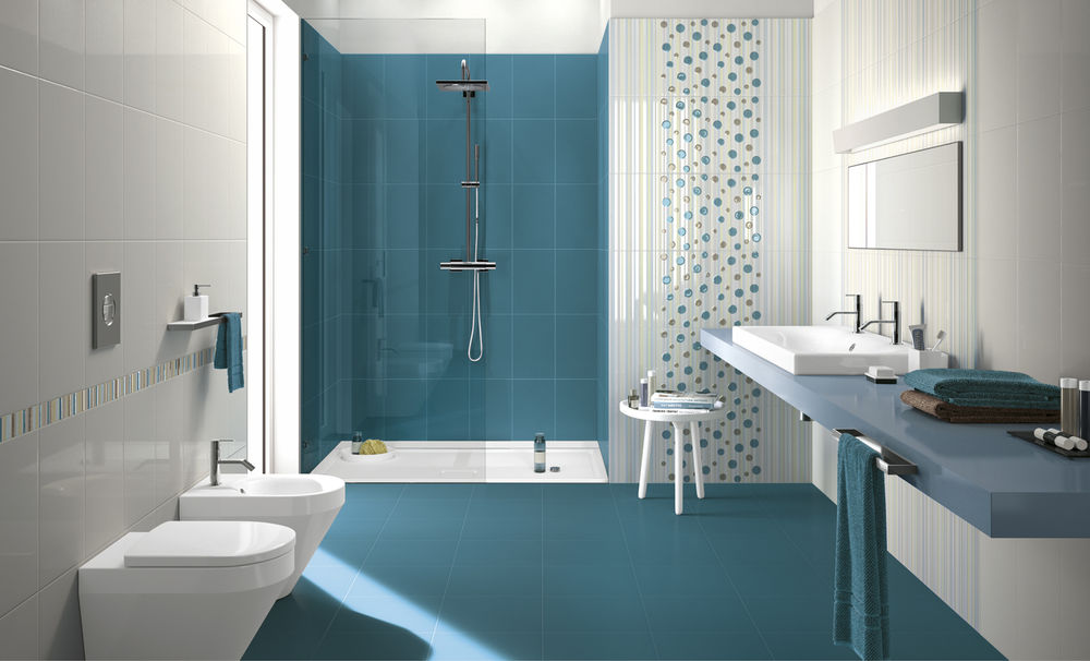 Circus carini stores ltd for Faience salle de bain bleu