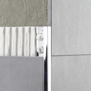 Tile Trim Square Aluminium Polished