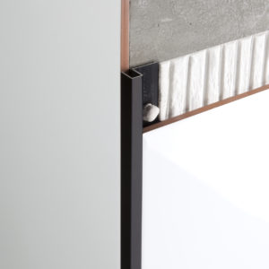 Tile Trim Square Aluminium Black