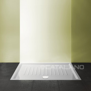 Verso Ceramic Shower Tray 120x80cm Slim