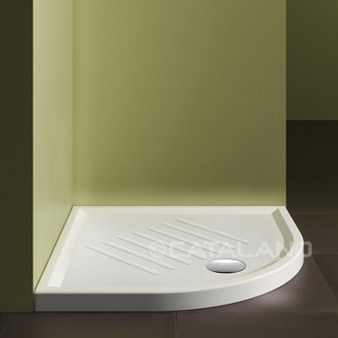 Verso Ceramic Shower Tray 90cm Round Slim